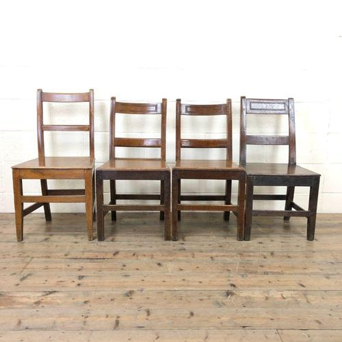 Four Similar 19th Century Welsh Oak Bar Back Farmhouse Chairs (1 of 9)