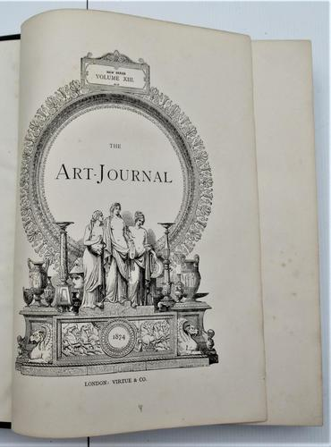The Art Journal New Series Volume 1874 complete, fine engravings (1 of 6)