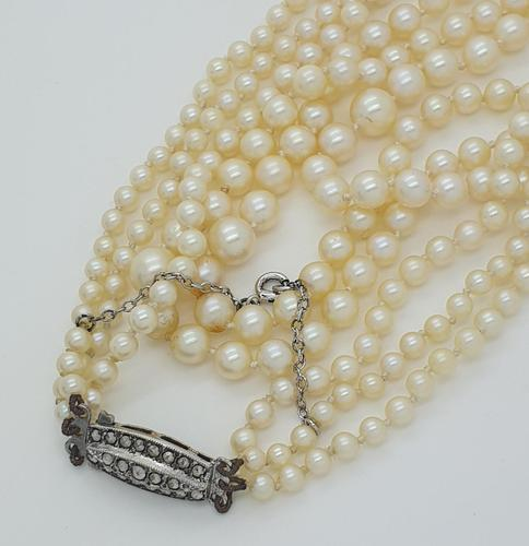 Pearls with Marcasite Clasp (1 of 5)