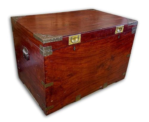 19th C Brass Bound Campaign Style Chest (1 of 8)