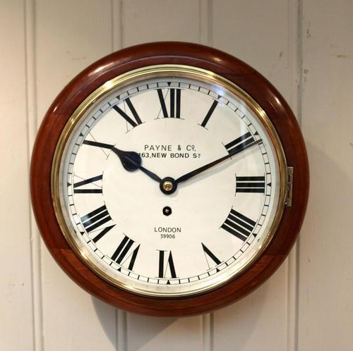 Mahogany 10' Fusee Dial Clock (1 of 12)