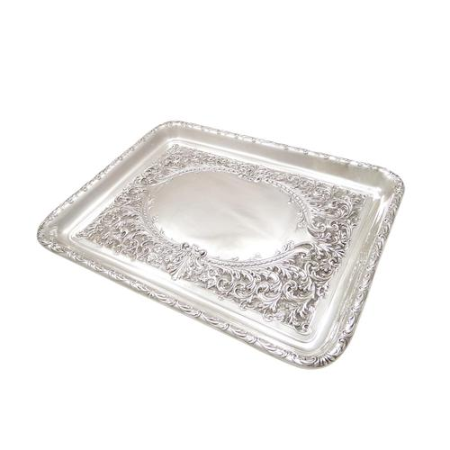 Antique Edwardian Sterling Silver Dressing  Tray  1905 (1 of 9)