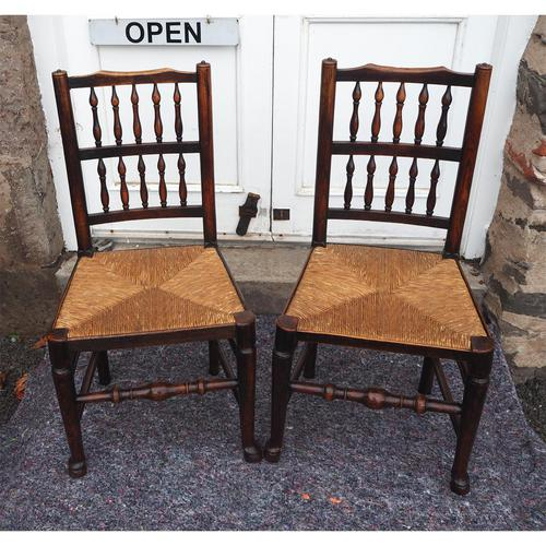 Good Pair of Country Spindle Back Chairs (1 of 6)