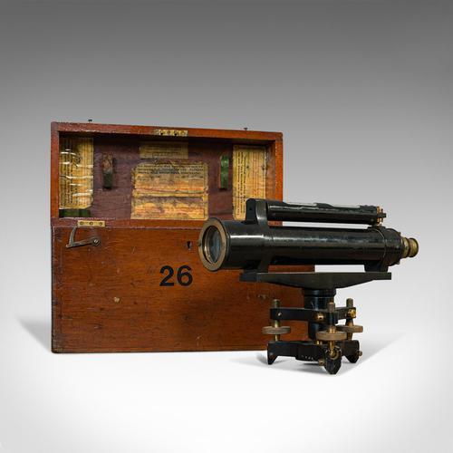 Antique Surveyor's Level, English, Brass, Scientific Instrument, Halden & Sons (1 of 11)
