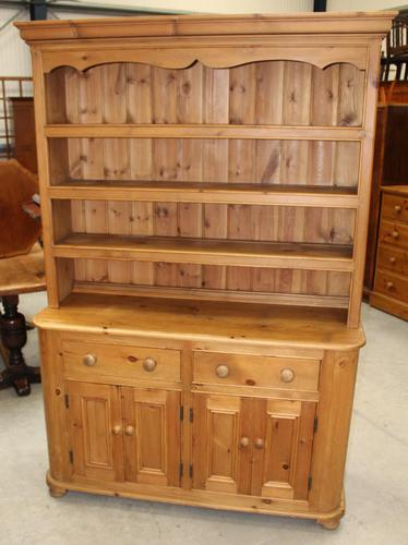 1920's Country Pine Dresser with Display Rack (1 of 5)