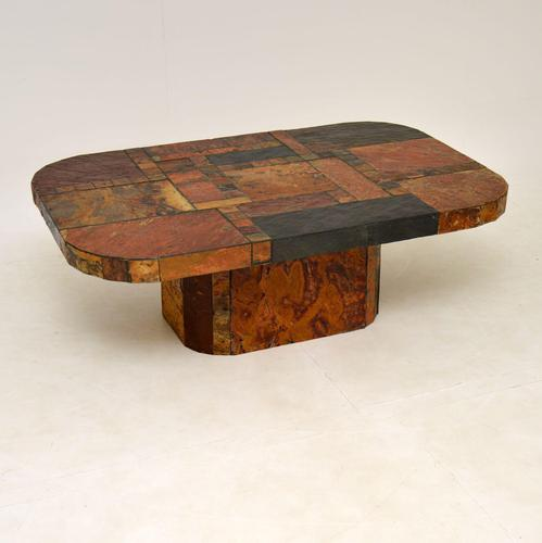 Large Swedish Stone Vintage Coffee Table (1 of 11)