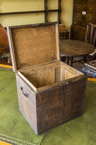 Early 19th Century Oak Box (1 of 5)