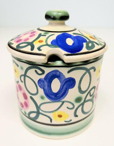 Honiton Pottery Jar 'Sweet Pea' 1930s (1 of 6)