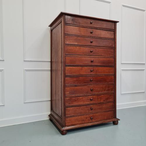 Large Antique Collectors Drawers Cabinet C1880 (1 of 6)