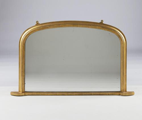 Victorian  English Gilt Arch Top Overmantle Mirror (1 of 6)