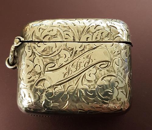 Victorian Sterling Silver Vesta Case (1 of 3)