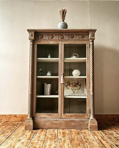 Antique Victorian Bookcase / Cabinet / Bookshelf (1 of 7)