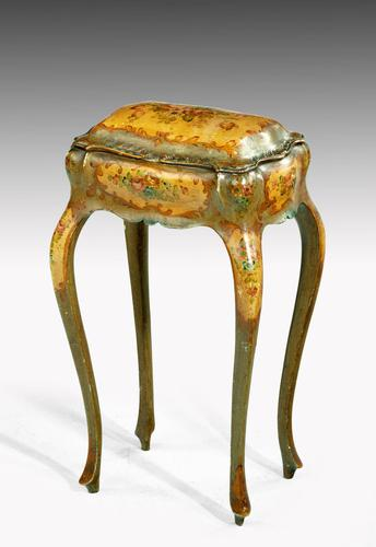 Painted Ladies Sewing Table of Exaggerated Bombay Form (1 of 4)