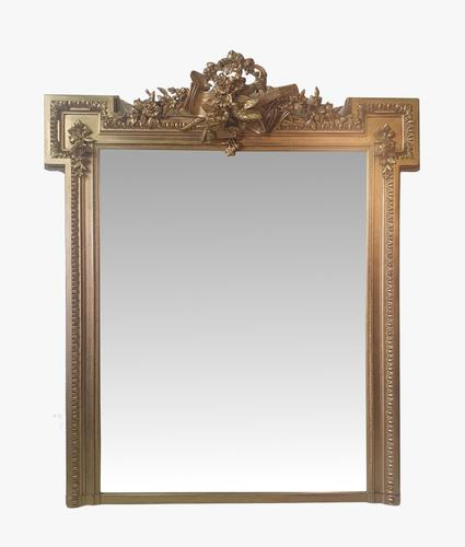 Stunning 19th Century Giltwood Overmantle or Hall Mirror (1 of 3)