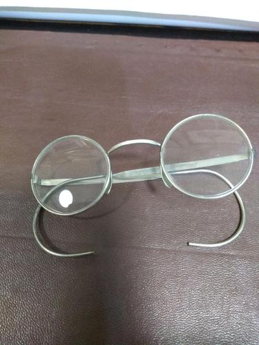 Round Metal Spectacles with wrap around arms (1 of 3)