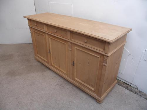 Reclaimed Pine 3 Door 3 Drawer Moulded TV Stand / Dresser Base to wax / paint (1 of 10)