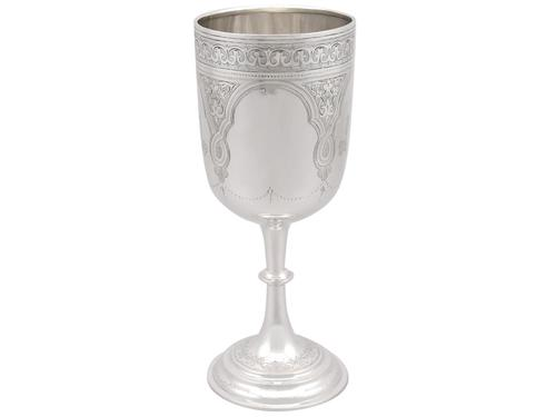 Sterling Silver Goblet by Charles Stuart Harris - Antique Victorian 1889 (1 of 9)
