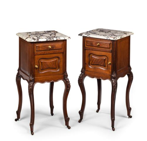 Pair of Late 19th Century Walnut Small Cupboards (1 of 5)