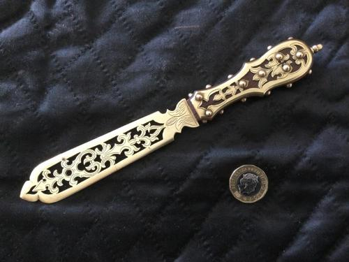 Gothic Brass Letter Opener (1 of 12)