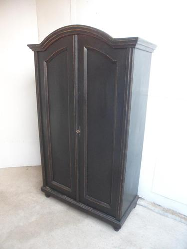 Trendy Art Deco Black 1 Piece 2 Door Pine Hall / Child's Wardrobe (1 of 11)