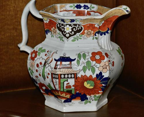 19th Century Real Stone China Jug with Chinoiserie Decoration (1 of 11)