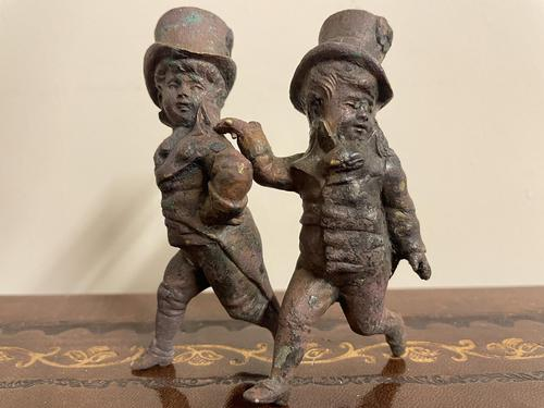 Victorian Bronze Top Hat Boy Figures (1 of 6)