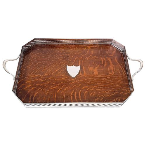 19th Century Country House Oak Serving Tray (1 of 9)