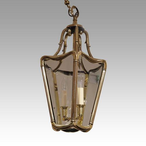 Edwardian Bronze Hall Lantern (1 of 4)