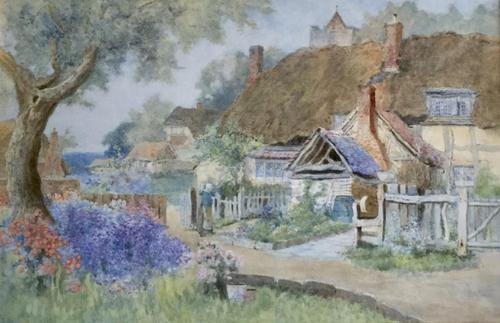 Richard Wane Watercolour - Our Cottage (1 of 2)