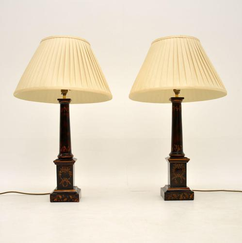Pair of Antique Neoclassical Style Table Lamps (1 of 8)