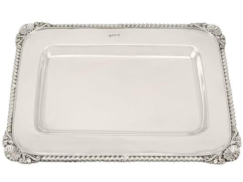 Sterling Silver Drinks Tray - Antique Victorian (1900) (1 of 9)