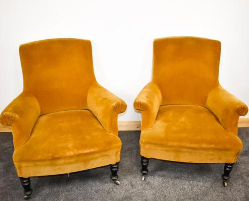 Napoleon III Pair of His & Hers Club Chairs (1 of 8)