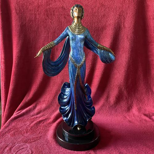 "Erte (romain De Tirtoff) Ltd Edition Bronze Sculpture ""Ecstasy"" 163/500 (1 of 16)"