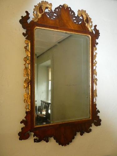 English 18th Century Mahogany & Gilt Mirror (1 of 9)