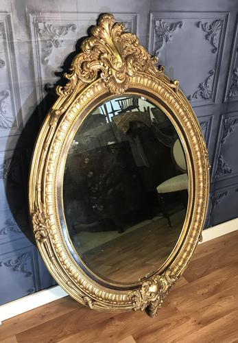 Large Gilt Mirror (1 of 8)