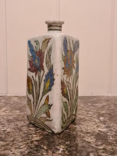 18th Century Antique Iznik Stoneware Vase Flask Bottle Persian Ottoman Islamic (1 of 12)