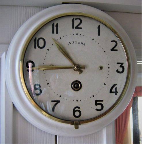 Unique and Scarce 1940's French Platform Escapement Office Wall Clock. (1 of 5)