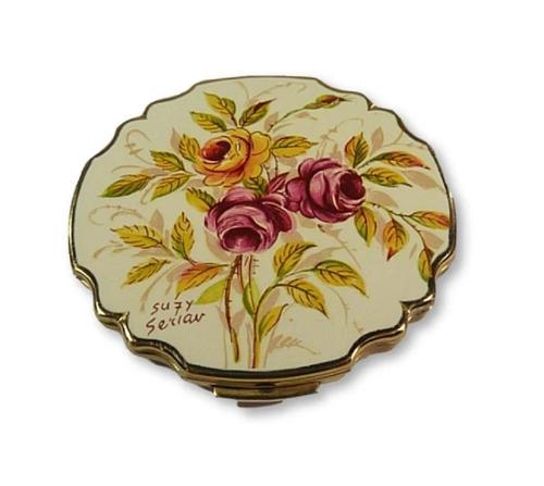 Beautiful Enamel Stratton Loose Foundation Compact 1960s (1 of 8)