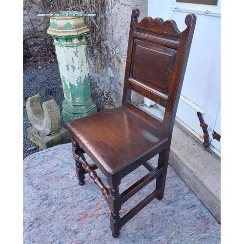 Good 17th Century Oak Hall Chair (1 of 6)