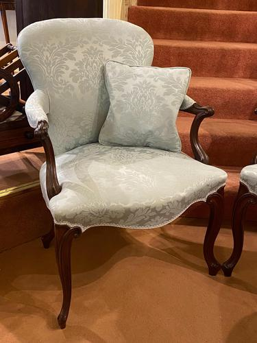 Pair of Late 18th Century Hepplewhite Period Library Armchairs (1 of 6)