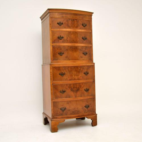 Antique Georgian Style Burr Walnut Chest on Chest (1 of 9)