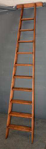 Antique Pine Library Ladder (1 of 3)