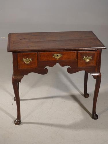 Elegant Queen Anne Period Oak Lowboy (1 of 6)
