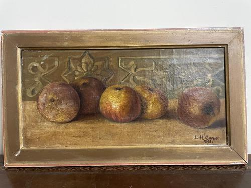 L.H Cooper Signed Fruit Oil Painting (1 of 6)