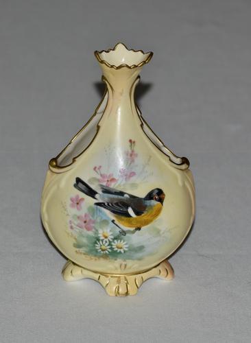 Locke & Co Worcester Vase C1898 /1902 - Signed Lewis (1 of 6)