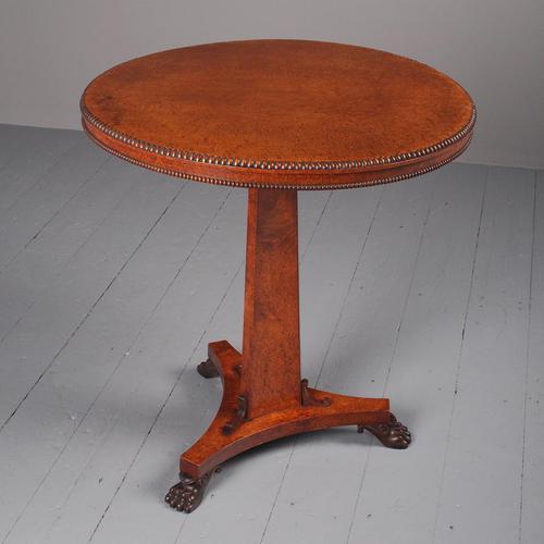 Regency Circular Amboyna Occasional Table (1 of 16)