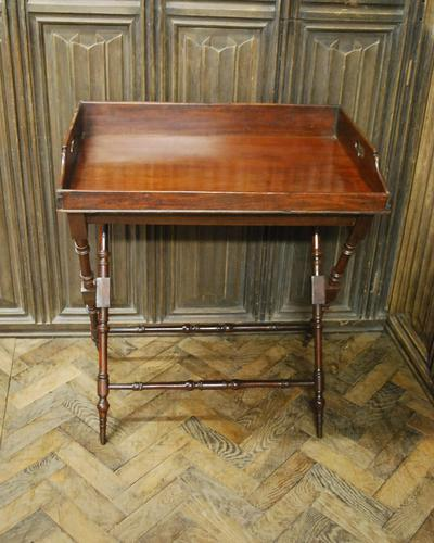 Mahogany Butlers Tray on Stand (1 of 6)