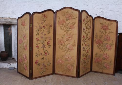 Beautiful Old Art Nouveau 5 Fold Screen (1 of 14)