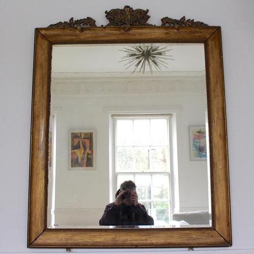 Italian Mirror Giltwood Carved Painted Neoclassical Large (1 of 8)