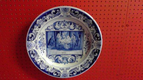 Rare Delftware 19th Century Charger (1 of 3)